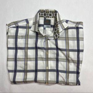 THOMAS DEAN size L Dress Shirt